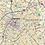 Thumbnail: Charlotte Metro Area Laminated Wall Map
