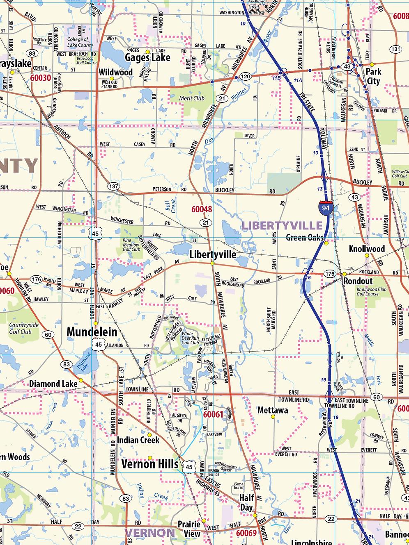 Chicago Metro Area Laminated Wall Map on grand chute map, superior map, fond du lac zip code map, norman map, lafayette map, wilmot map, peoria map, st francis map, woodstock map, sheboygan map, fennimore map, oconomowoc map, wausau map, schererville map, prairie crossing map, waukesha map, door map, city of racine map, racine wisconsin map, greensboro map,