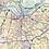 Thumbnail: Louisvillle Metro Area Laminated Wall Map