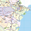 Thumbnail: Georgia Laminated Wall Map
