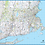 Thumbnail: Southern New England Laminated Wall Map