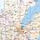 Thumbnail: Wisconsin Laminated Wall Map