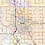 Thumbnail: Oklahoma City Metro Area Laminated Wall Map