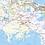 Thumbnail: Louisiana Laminated Wall Map
