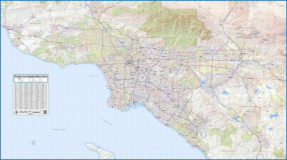 Greater Los Angeles Metropolitan Area Map