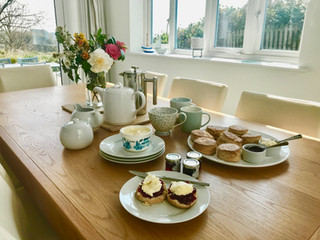 Complimentary Cream Tea at Scott's Cottage