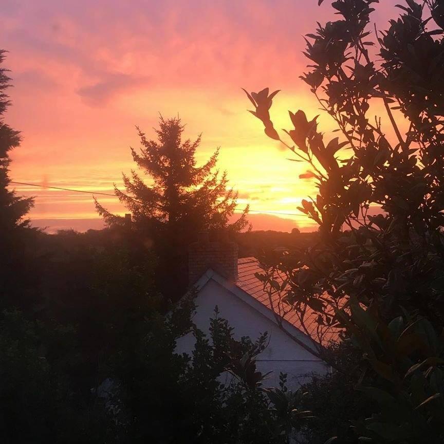 Sunrise over Scott's Cottage