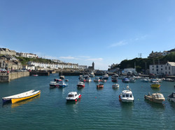 Porthleven boats in harbour