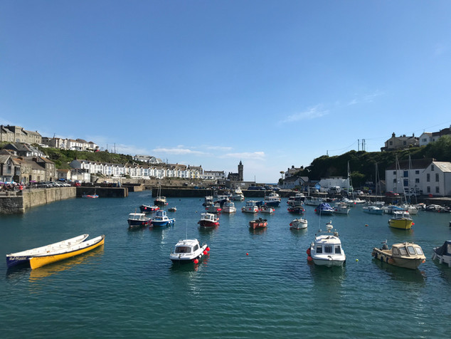 Boats in Porthleven Harbour