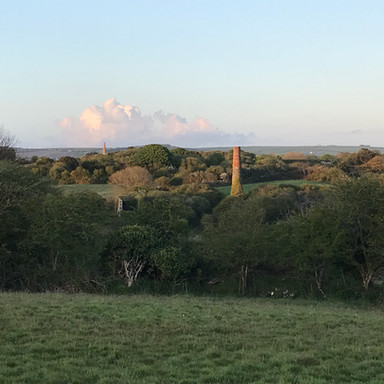 Sunset over Wheal Metal from Hope Farm