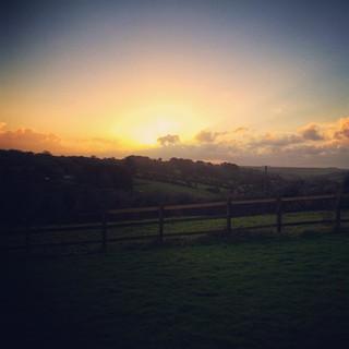 Sunrise at Hope Farm Cornwall
