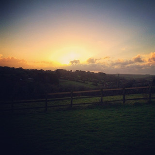 Sunrise at Hope Farm Cornwall