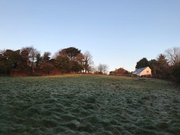Sunrise at Scott's Cottage and Hope Farm