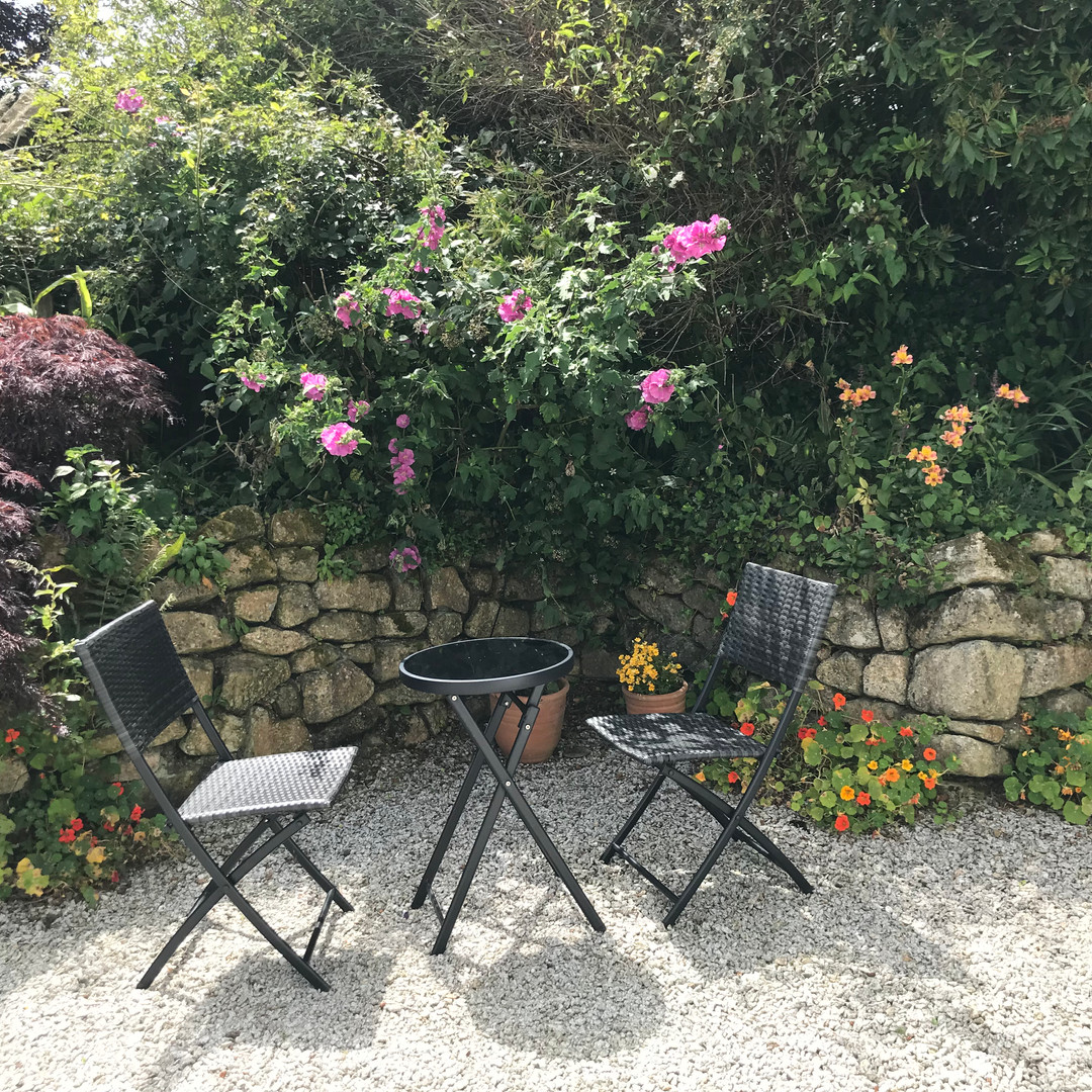 Seating area at Scott's Cotage