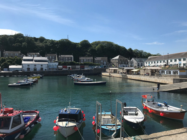 Fishing boats in Porthleven Harbour