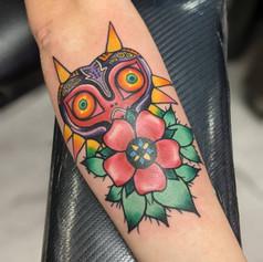 Majora's Mask tattoo from Zelda