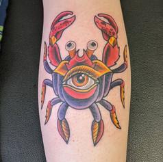 Traditional Crab Tattoo