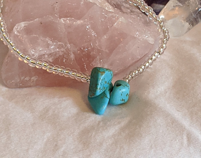 Turquoise & Glass Bead Bracelet