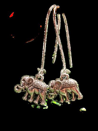 Elephant Charm Earrings