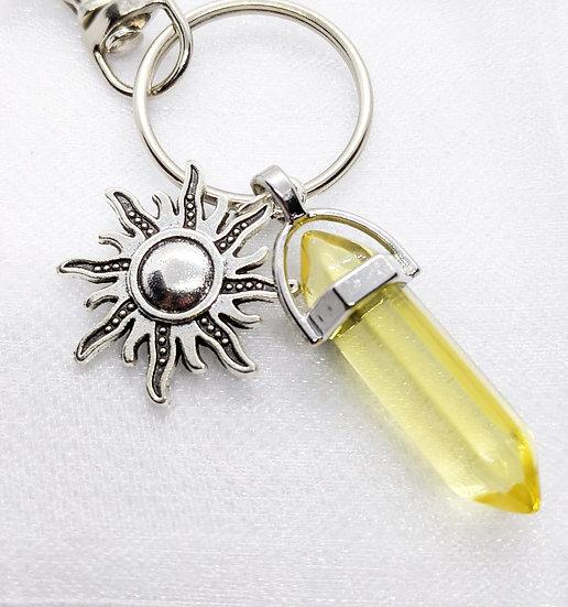 Keyring - Clear Yellow Sun