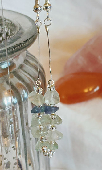 Decorative Stacked Gemstone Earrings