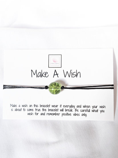 Make a Wish -Green bead