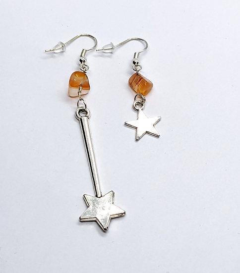Sunstone Star Earrings
