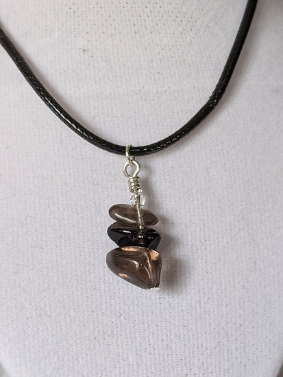 Smokey Quartz Stacked Necklace