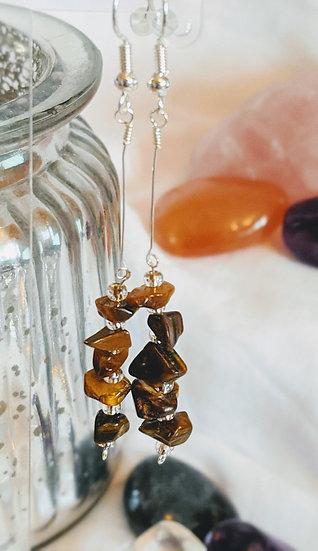 Decorative Stacked Gemstone Earrings