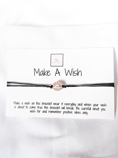 Make a Wish - Pink Bead