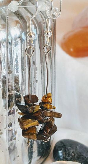 Natural Stacked Gemstone Earrings