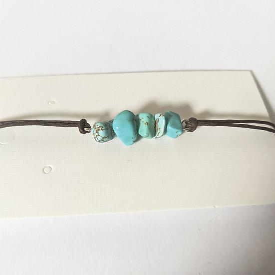 Sliding knot gemstone bracelets