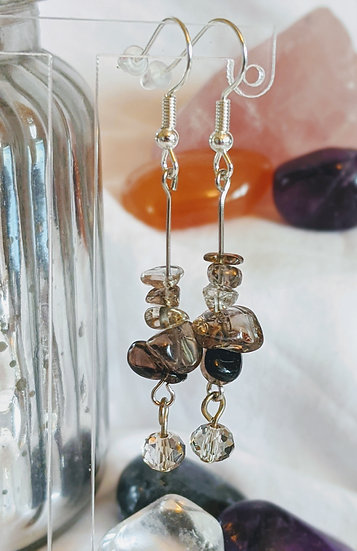 Decorative Drop Gemstone Earrings