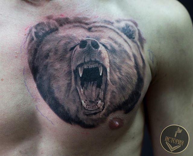 Медведь в реализме от Макса😍__Медведь уже много лет считается национальным символом России