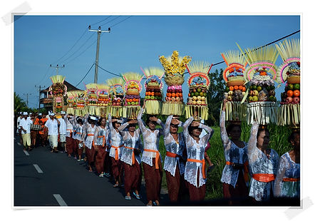 this is amazing parade where we can see on the way to trip inBali