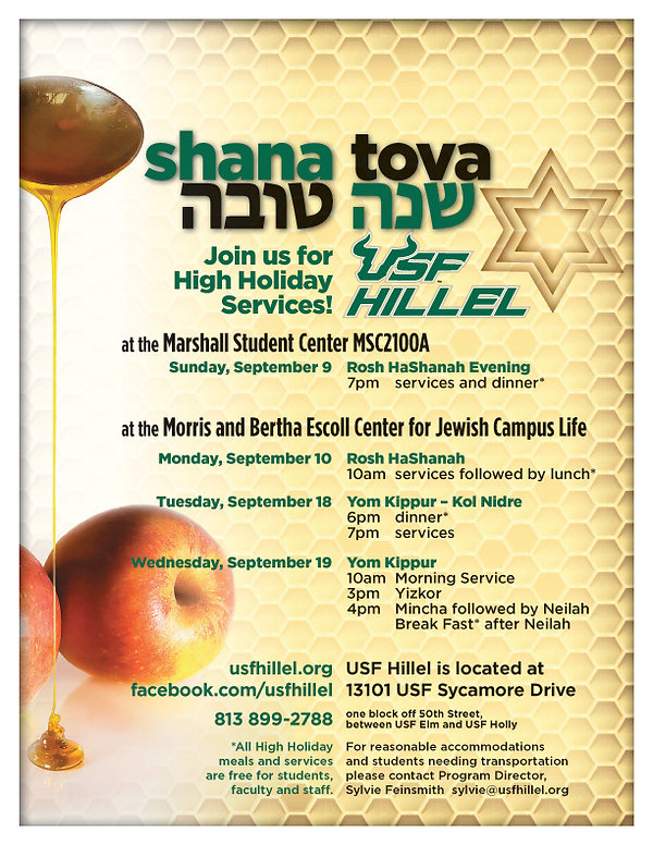 High Holidays USF Hillel for Residence H