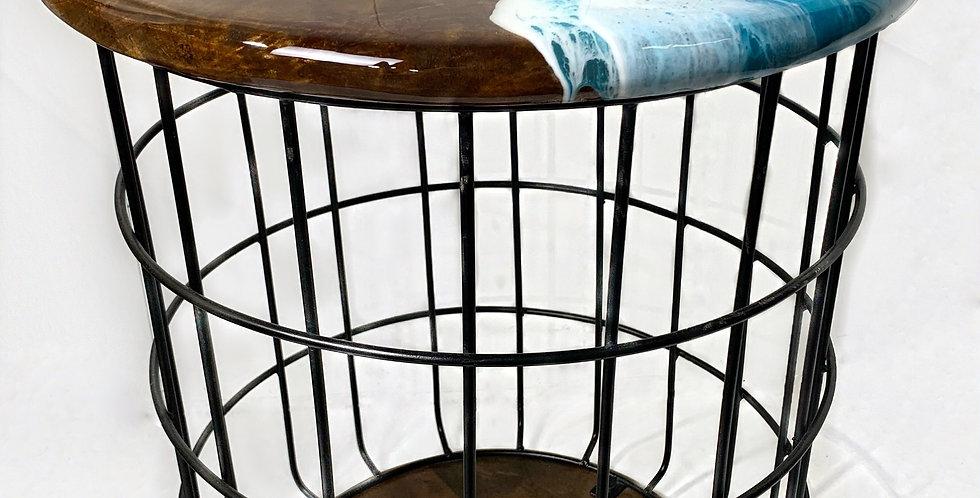 Large Basket Side Table