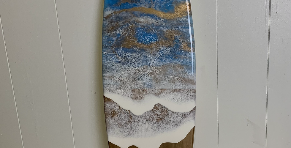 ( limited edition) Gold Ocean Surfboard