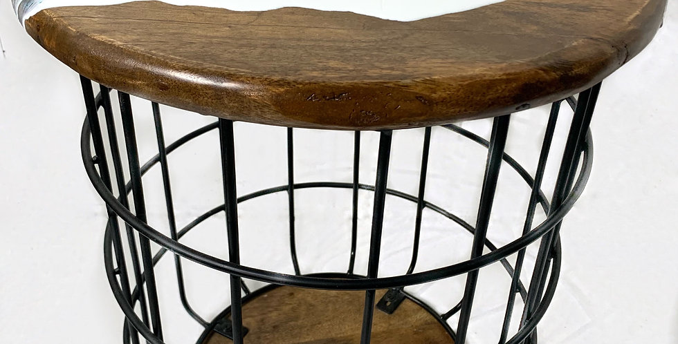 Small Basket Side Table