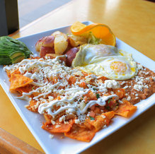 Chilaquiles and Eggs $12.99