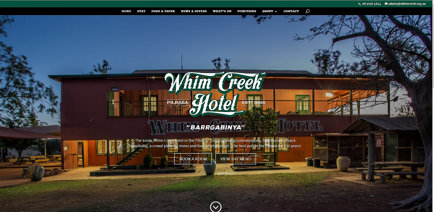 Whim Creek website