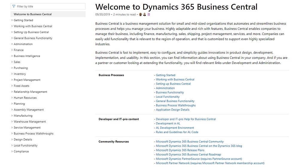 Dynamics 365 Business Central User Guide