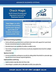 ABS Check Magic for Microsoft Dynamics 3