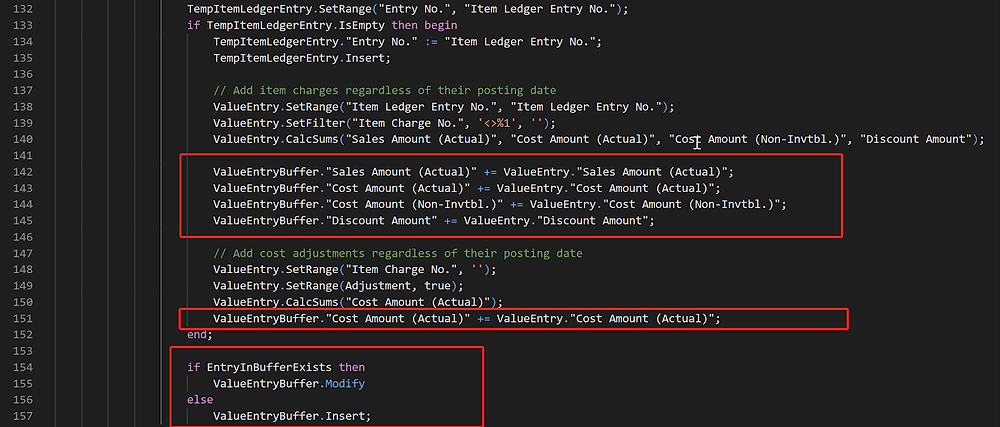 Business Central how-to code for value entry buffer