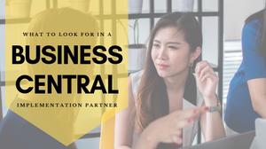 Finding a Business Central implementation partner