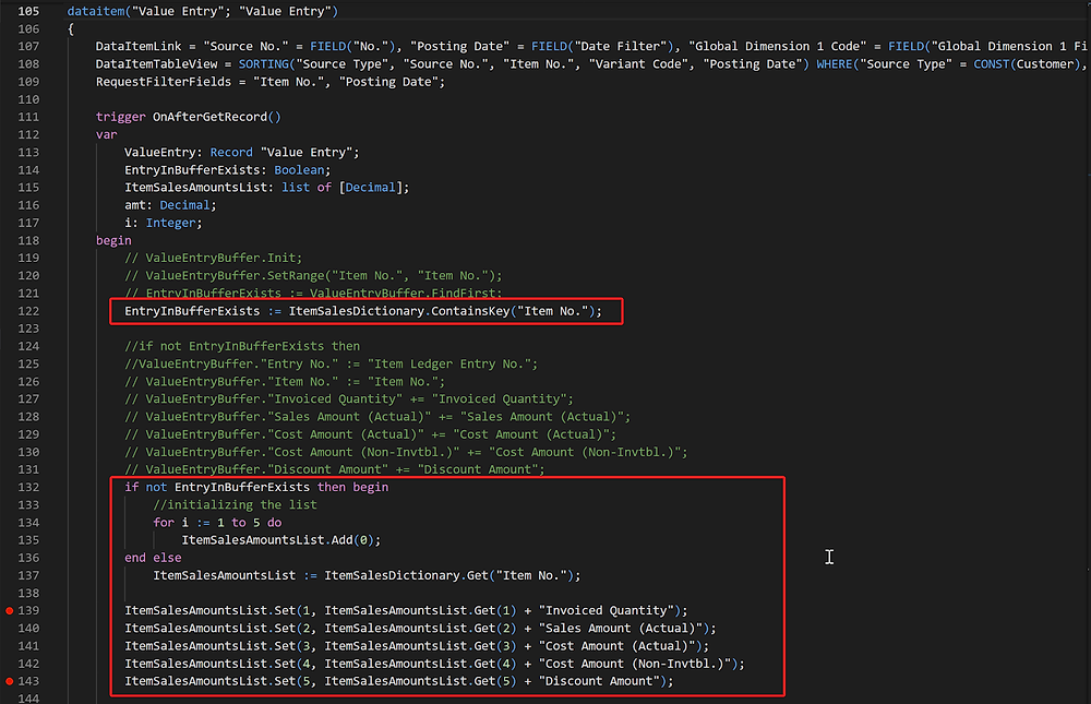 Using Dictionary Data Type in Business Central reporting code