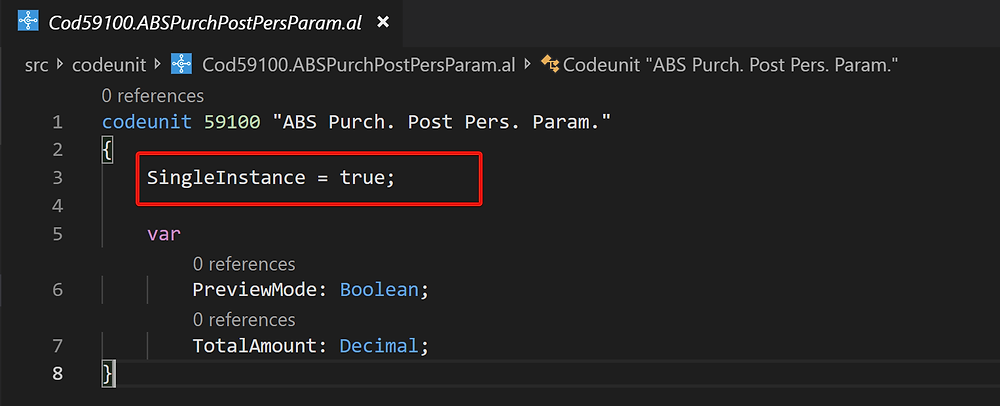 Parameter persisting pattern workaround for Business Central
