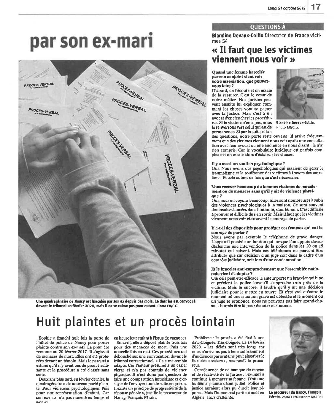 201910 - Article Est Républicain