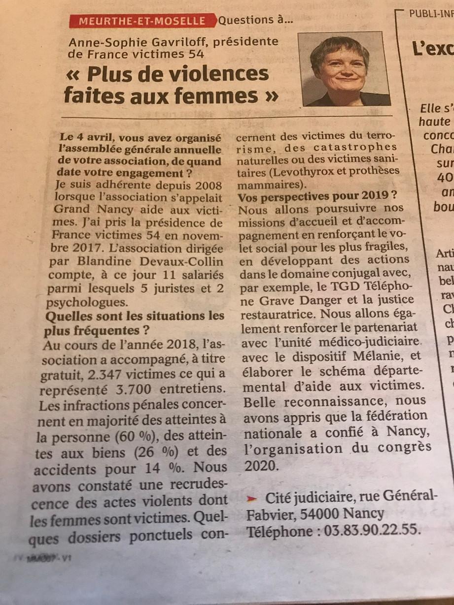 201904 - Article Est Républicain