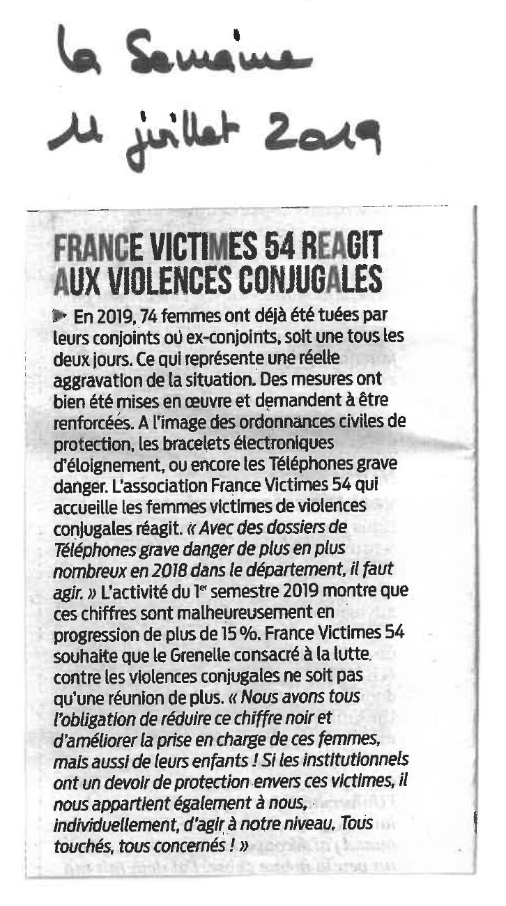201907 - Article La Semaine